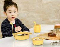 Children's fun combination tableware design
