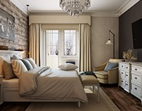 Elegant Bedroom: 3D Visualization