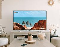 Free Modern Interior TV Mockup