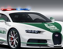 Bugatti Chiron Dubai Police