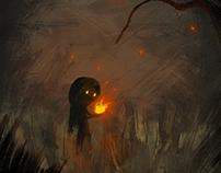 Une lumiére de feu