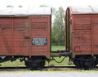 In Jasenovac concentration camp, train of the victims