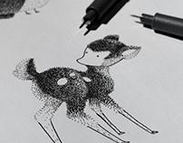 Fuzzy Life Pen Art