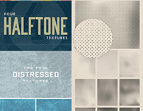 10 Free Halftone & Distressed Texture Packs