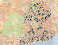 Human  Cartography: Pessoa / Lisbon / Paper Cut Map