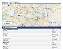 Store locations and directions page
