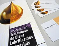 Folder e cartão de visitas Mineraltec