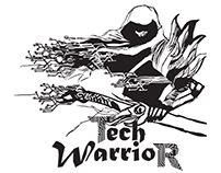 Tech Warrior - logo and branding process