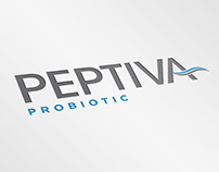 Peptiva Probiotic Logo Design