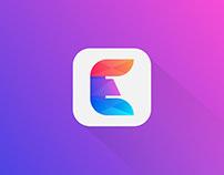 Abstract E Letter Design
