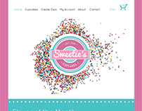 Sweetie's Cupcake website