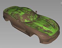 [WIP] Nurbs modeling: Dodge Viper 2013