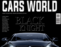 Free Car World Magazine Cover PSD Template
