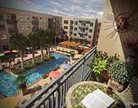 Loft Apartments Balcony Pool View