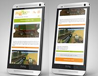 Mobile design of gaming mods website