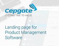 Cepgate landing page