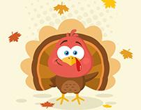 Cute Turkey Bird