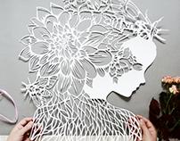 Paper cut silhouette
