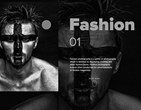 Site concept of the photographer's portfolio