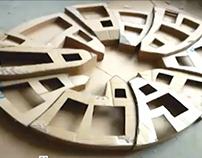the making of a cardboard artwork - KARTONISMUS