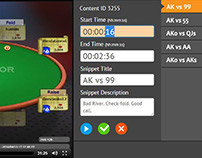 Web App: PokerXFactor Playlist Builder and Editor