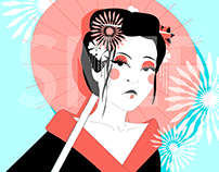 Japanese Inspired Vector Drawings