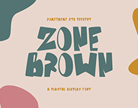 Zone Brown - Playful Display Font