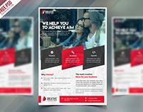 Freebie : Corporate Flyer Free Psd Template