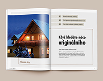 Catalog design for houses developer