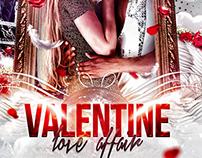 Valentines Love Affair Flyer Template