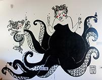 Ursula Borracha - Mural-