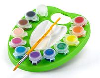 Washable Kids' Paint Palette