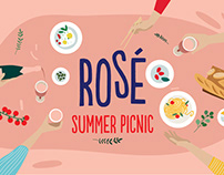 Chandon / Rose / Summer picnic