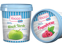Yogo Fruity yogurt ice creams packaging