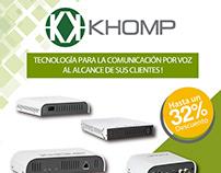 Flyer y Banner marca Khomp