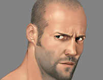 Jason Statham digital painting/portrait study.