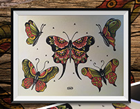 Tattoo Flash - Butterflies