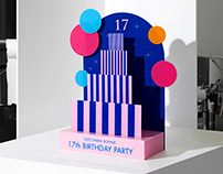 SUECOMMA BONNIE 17TH BIRTHDAY PARTY PROMOTION DESIGN