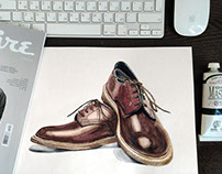 Watercolor Illustration fashion men's item