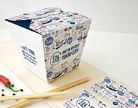 Дизайн коробки для лапши WOK