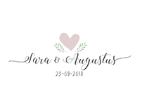 Sweet and calm creative wedding Logo