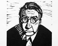 Raymond Chandler Linocut