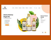 Exploration of landing page for organic beauty