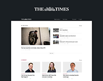 The Times — news site redesign
