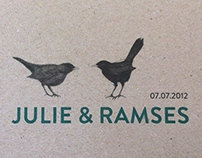 Wedding invitation, Julie & Ramses