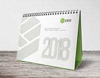 """""""LKU"""" 2018 m. stalo kalendoriaus dizainas"""