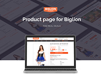 Product page design for Biglion