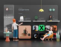 Smart Home 3D Dashboard