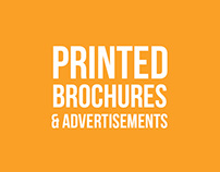 Printed brochures and advertisements