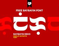 BAYBAYIN DEKO Free Font